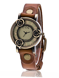 cheap -XU Women's Vintage Wrist Watch Leather Belt Casual Rose Bracelet Watch