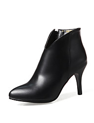 Women's Boots Bootie Combat Boots Fall Winter Leatherette Wedding Casual Party & Evening Office & Career Dress Stiletto Heel Black Dark