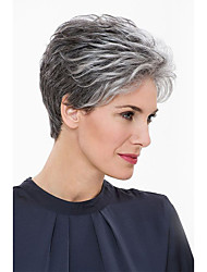 cheap -Natural Otherworldly Short Human Hair Wigs