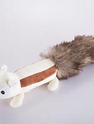 economico -Giocattolo per cani Giocattoli per animali Peluche Giochi con suono Carino Squittiscono Scoiattolo Pelliccia finta Per animali domestici