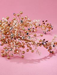 Imitation Pearl Rhinestone Plastic Alloy Tiaras Headbands Headpiece