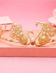 abordables -diadema imitación perla tiaras diademas flores estilo elegante