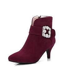 Damen Stiefel Komfort Neuheit Modische Stiefel Stiefeletten Leuchtende Sohlen formale Schuhe Herbst WinterNubukleder maßgeschneiderte