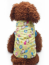 cheap -Dog Vest Dog Clothes Cartoon Cotton Down Costume For Pets Men's Women's Casual/Daily