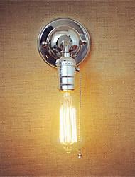 1pcs E27 Edison Vintage Loft Aisle Chrome Wall Lamp Zipper Switch without Lamp for 110/220V