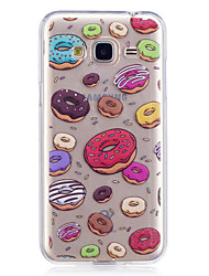 cheap -Case For Samsung Galaxy J3 J3 (2016) Case Cover Dessert Pattern Painted High Penetration TPU Material IMD Process Soft Case Phone Case J5 (2016)