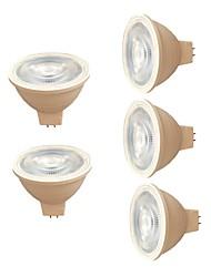 cheap -7W 580 lm MR16 LED Spotlight 6 leds SMD 3030 Warm White White AC 220V
