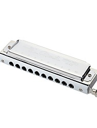 cheap -Swan Chromatic Harmonica 10 Holes 40 Tones Key of C Silver with Exquisite Box