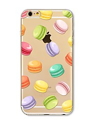 abordables -Coque Pour Apple iPhone X iPhone 8 Plus Transparente Motif Coque Carreau vernisé Nourriture Flexible TPU pour iPhone X iPhone 8 Plus