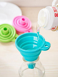 Candy Color Home Long Neck Funnel Creative Kitchen Gadgets Use Everyday 1pc