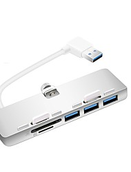 Rocketek Ultra-thin Premium Aluminum 3-Port USB 3.0 Hub SD/TF micro SD Card Reader Exclusively Designed For iMac Slim Unibody  USB3-3PC2-iMac