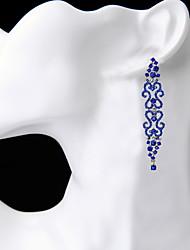 Недорогие -Жен. Серьги-слезки СтразыБазовый дизайн Уникальный дизайн Стразы Дружба Массивные украшения Африка США Кисточки Английский Мода Chrismas
