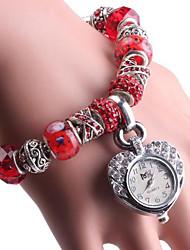 Недорогие -Жен. Часы-браслет Цифровой Медь Красный / Зеленый Аналоговый Красный Зеленый