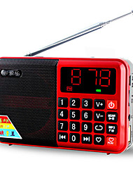 abordables -L63 FM Radio portable Carte TFWorld ReceiverArgent / Rouge