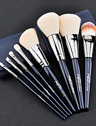 cheap -1set Makeup Brush Set Synthetic Hair Easy to Use Easy Carrying Easy to Carry Copper Wood Men Face Men and Women Nursing Daily Eyes Lips