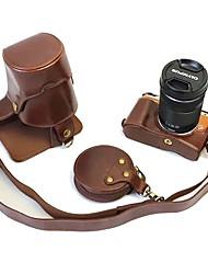 Недорогие -Dengpin pu кожаный чехол для камеры сумка для olympus e-pl8 epl8 14-42 40-150 объектив (различные цвета)