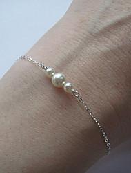 abordables -Femme Perle Chaînes & Bracelets / Charmes pour Bracelets - Bracelet Argent / Doré Pour Soirée / Quotidien / Décontracté