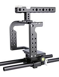 baratos -Eelangu profissional dslr suporte suporte alumínio câmera cage c7 portátil dv suporte para gh5