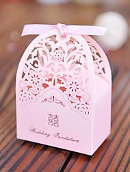 100 Porta-bomboniera-Cuboidi Carta Carta perlata Bomboniere scatole Confezioni regalo