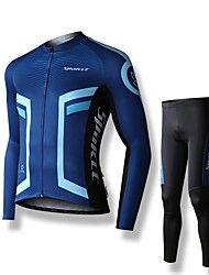 cheap -SPAKCT Cycling Jersey with Tights Men's Men Long Sleeves Bike Jersey Tights Clothing Suits Cycling Low Windage Ultraviolet Resistant