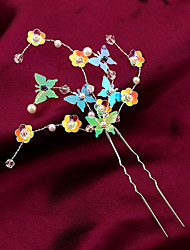 cheap -Imitation Pearl Plastic Alloy Flowers Hair Pin Hair Tool Headpiece