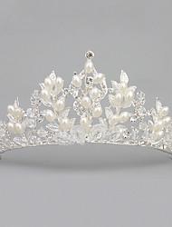 cheap -Crystal Imitation Pearl Acrylic Rhinestone Tiaras Headpiece Elegant Style