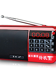 F3 Tragbares Radio MP3-Player Taschenlampe TF-KarteWorld ReceiverGold Purpur Rot Blau
