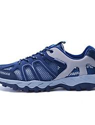 baratos -LEIBINDI Homens Sapatos Casuais / Sapatos de Montanhismo Anti-Escorregar, Vestível, Exterior Courino Azul Escuro / Cinzento Escuro