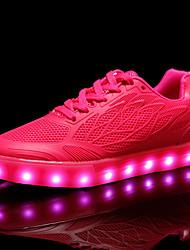 Da donna Sneakers Comoda Scarpe luminose PU sintetico Autunno Inverno Casual Serata e festa Lacci Piatto Bianco Verde Rosa Piatto