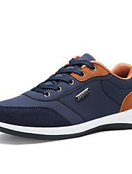preiswerte -Herrn Schuhe PU Frühling Herbst Komfort Sneakers Schnürsenkel für Normal Büro & Karriere Weiß Grau Blau