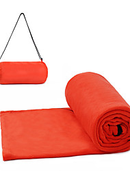 Недорогие -Спальный мешок Спальный мешок Liner на открытом воздухе Прямоугольный 15-25 °C Односпальный комплект (Ш 150 x Д 200 см) Пористый хлопок Компактность Сохраняет тепло Влагонепроницаемый для