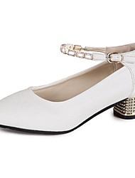 Women's Sandals Comfort Spring Summer PU Casual Low Heel Gold White Under 1in