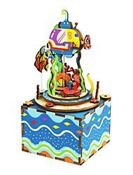 baratos -Quebra-Cabeça Quebra-Cabeças de Madeira Caleidoscópio Fonógrafo Desenho Faça Você Mesmo De madeira Composto Crianças Dom