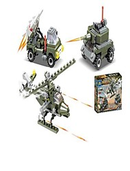 cheap -Building Blocks Toys Helicopter Chariot Military Engineering Plastics Cast Iron Children's Pieces
