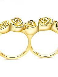 Dámské Široké prsteny Přizpůsobeno Luxus Klasické Základní Sexy láska Módní Cute Style Elegantní Slitina Kytky Křídla / Peří Šperky