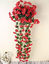 preiswerte -1 Stück 1 Ast Polyester Lila Wand-Blumen Künstliche Blumen