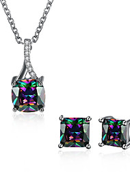 cheap -Women's Cubic Zirconia Jewelry Set - Zircon Drop Unique Design Include Light Black For Wedding / Office / Career / Daily