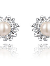 cheap -Drop Earrings Women's Fashion Silver Style Crystal Pearl Earrings For Office & Career Party Daily Movie Jewelry