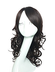 cheap -Capless Natural Black Color Wig Synthetic Fiber Heat Resistant Wig Long Deep Wave Full Wig