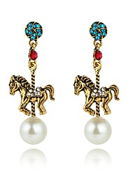 cheap -Women's Synthetic Sapphire Drop Earrings - Horse Personalized, Fashion Gold For Party / Engagement / Gift