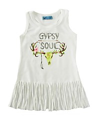 cheap -Baby Print Dress Cotton Summer Tassel Vest Kids Baby Girls Dress for Infant Girls