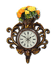 cheap -Modern/Contemporary Traditional Country Casual Retro Animal Floral/Botanical Wall Clock,Elephant Clock Animal Resin Indoor Clock