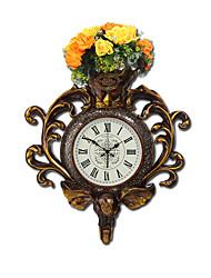 Moderne/Contemporain Traditionnel Rustique Décontracté Rétro Animal Floral/Botanique Horloge murale,Eléphant Horloge Animal Résine