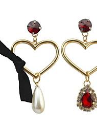 女性用 ドロップイヤリング 人造真珠 ラインストーンベーシック ユニーク ラインストーン 真珠 友情 ボヘミアスタイル クラシック Elegant パンクスタイル 調整可能 あり ヒップホップ Rock マルチの方法が着用します 欧米の ゴシック 映画ジュエリー