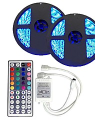 1 Set Led Strip Kit Waterproof 5050 10M(2*5M) 300led with44 key1to2 Ir Controller