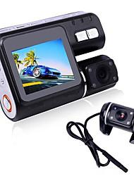 002 1080p 120 Gradi Automobile DVR 2,7 pollici Dash Cam ADAS LDWS FCWS Visione notturna G-Sensor Modalità parcheggio assistito Rilevatore