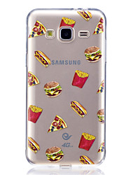 Case For Samsung Galaxy J7 V J5 Prime Case Cover Hamburgers Pattern High Penetration TPU Material Scratch Phone Case For Samsung Galaxy J3 J3 (2016)
