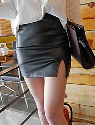 cheap -Women's Club Mini Skirts, Sexy Bodycon Others Solid Summer