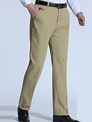 cheap -Men's Plus Size Cotton Straight / Chinos Pants - Solid Colored / Work