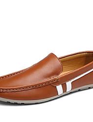 Masculino sapatos Couro Primavera Outono Conforto Mocassins e Slip-Ons Combinação Para Casual Preto Marron Azul